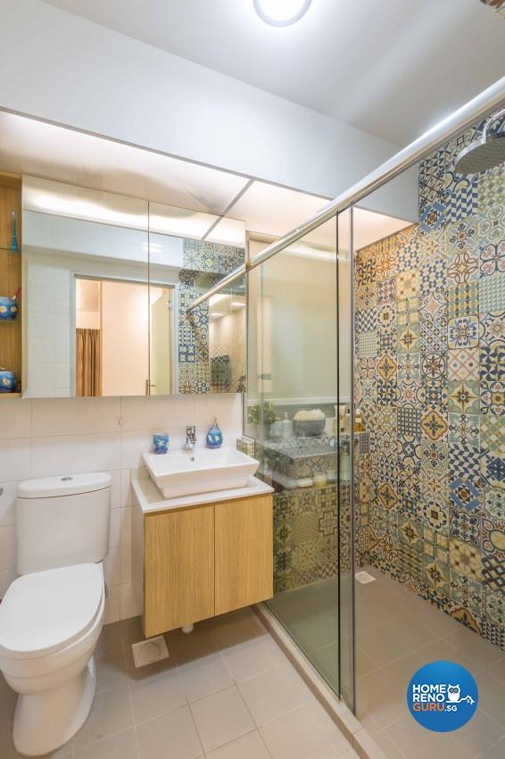 Contemporary, Modern Design - Bathroom - HDB 4 Room - Design by DB Studio Pte Ltd