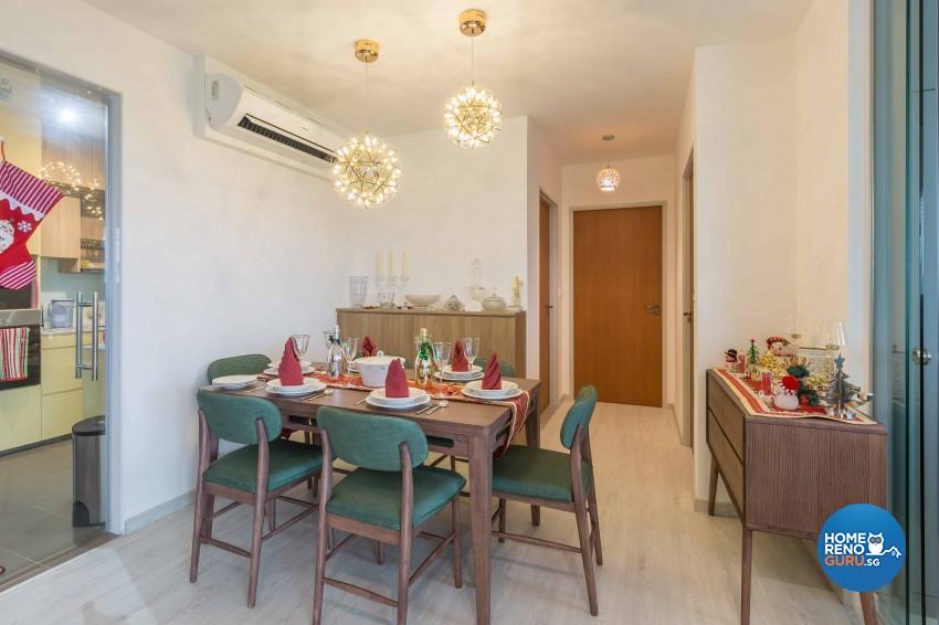 Contemporary, Modern Design - Dining Room - HDB 4 Room - Design by DB Studio Pte Ltd