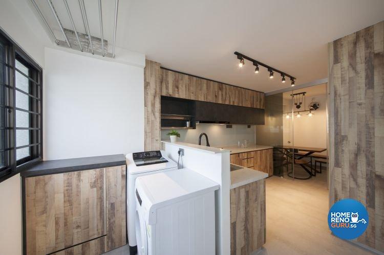 Contemporary, Modern, Scandinavian Design - Kitchen - HDB 5 Room - Design by DB Studio Pte Ltd