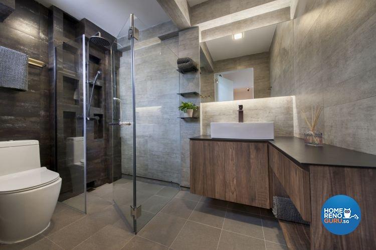 Contemporary, Modern, Scandinavian Design - Bathroom - HDB 5 Room - Design by DB Studio Pte Ltd