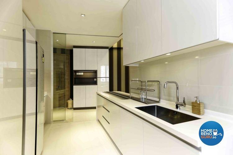 Contemporary, Modern, Vintage Design - Kitchen - Condominium - Design by DB Studio Pte Ltd