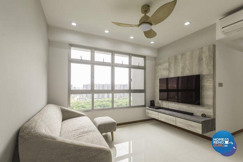Modern Design - Living Room - HDB 3 Room - Design by DB Studio Pte Ltd