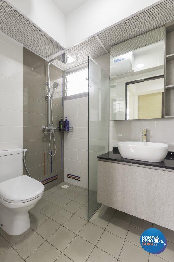 Modern Design - Bathroom - HDB 3 Room - Design by DB Studio Pte Ltd