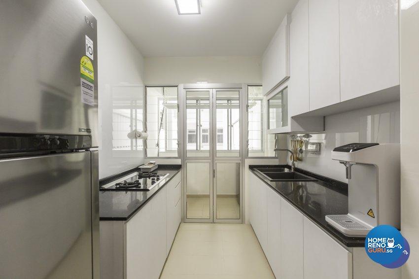 Modern Design - Kitchen - HDB 3 Room - Design by DB Studio Pte Ltd