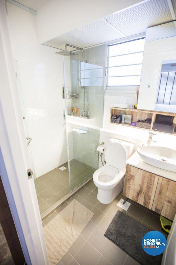 Eclectic Design - Bathroom - HDB 3 Room - Design by DB Studio Pte Ltd