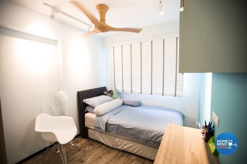 Eclectic Design - Bedroom - HDB 3 Room - Design by DB Studio Pte Ltd