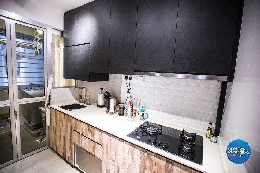 Eclectic Design - Kitchen - HDB 3 Room - Design by DB Studio Pte Ltd