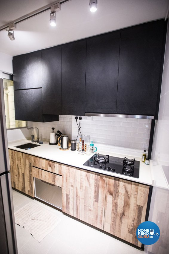 Eclectic Design - Kitchen - HDB 3 Room - Design by DB Studio Pte Ltd
