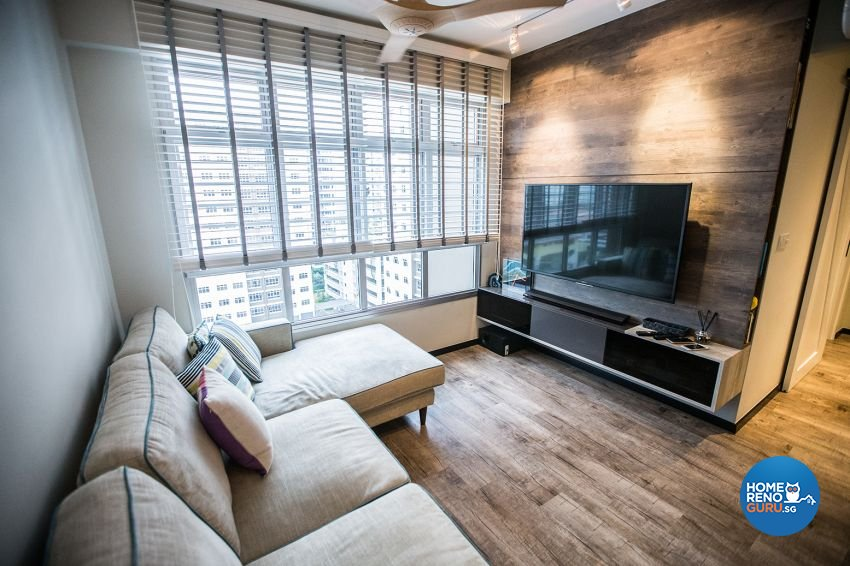Eclectic Design - Living Room - HDB 3 Room - Design by DB Studio Pte Ltd