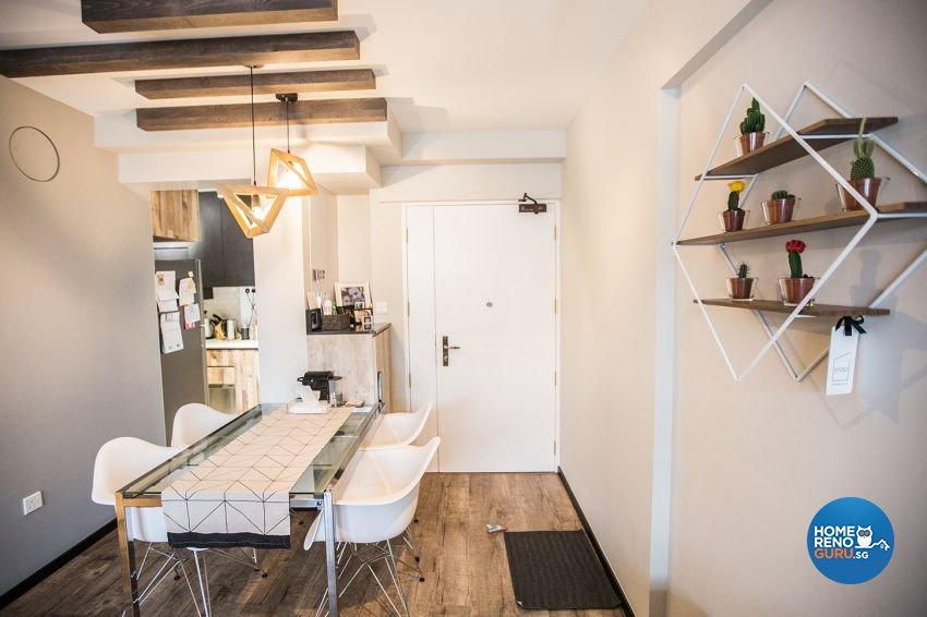 Eclectic Design - Dining Room - HDB 3 Room - Design by DB Studio Pte Ltd