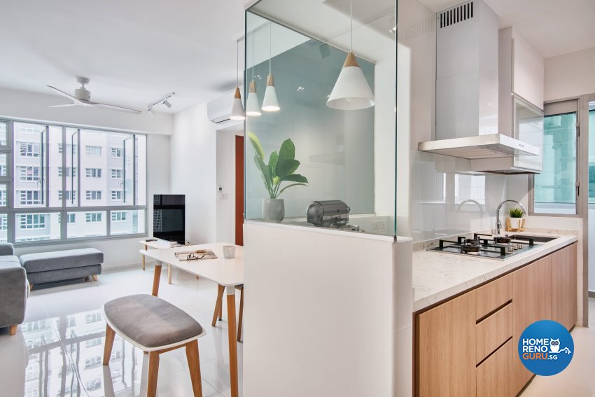 Scandinavian Design - Kitchen - HDB 3 Room - Design by DB Studio Pte Ltd
