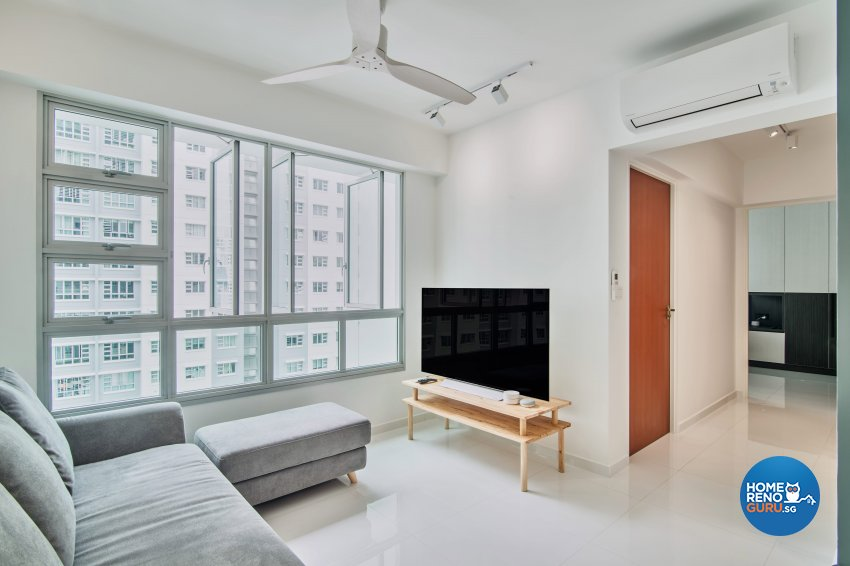 Scandinavian Design - Living Room - HDB 3 Room - Design by DB Studio Pte Ltd