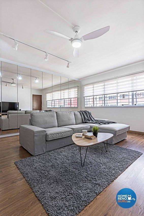 Minimalist Design - Living Room - HDB 4 Room - Design by DB Studio Pte Ltd