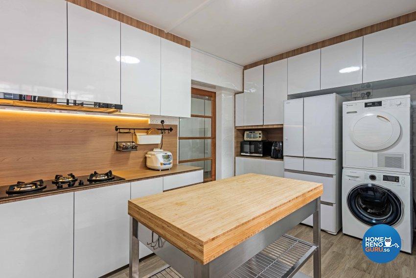 Minimalist Design - Kitchen - HDB 4 Room - Design by DB Studio Pte Ltd