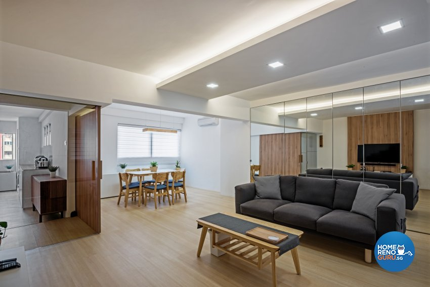 Minimalist, Scandinavian Design - Living Room - HDB 4 Room - Design by DB Studio Pte Ltd
