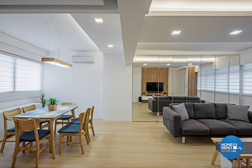 Minimalist, Scandinavian Design - Dining Room - HDB 4 Room - Design by DB Studio Pte Ltd