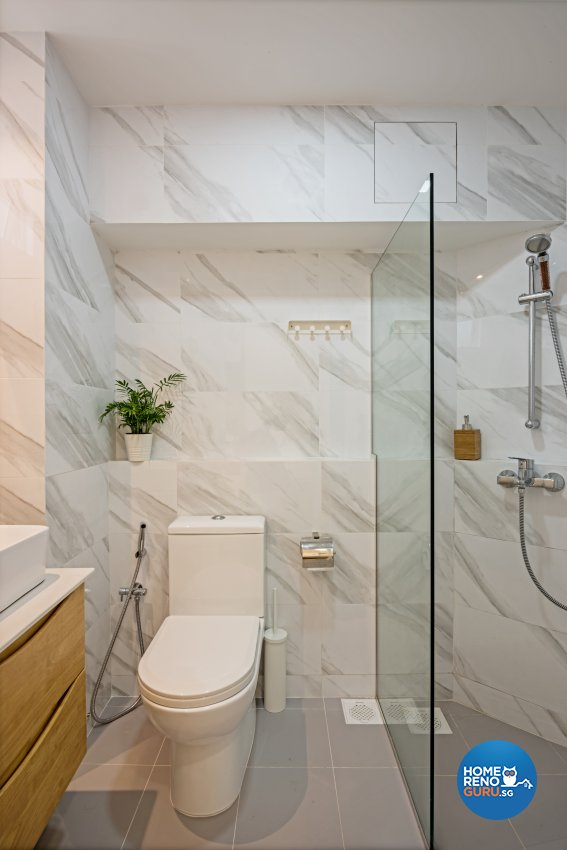 Minimalist, Scandinavian Design - Bathroom - HDB 4 Room - Design by DB Studio Pte Ltd