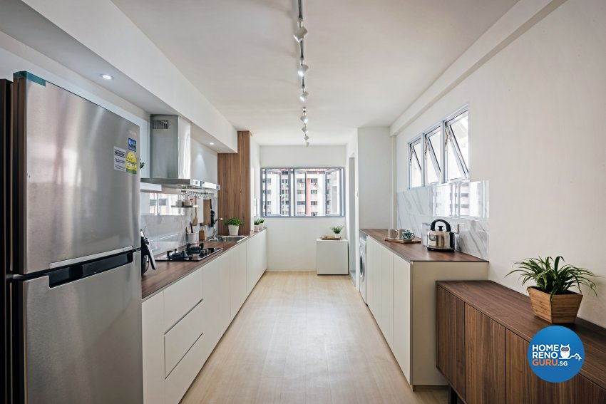 Minimalist, Scandinavian Design - Kitchen - HDB 4 Room - Design by DB Studio Pte Ltd