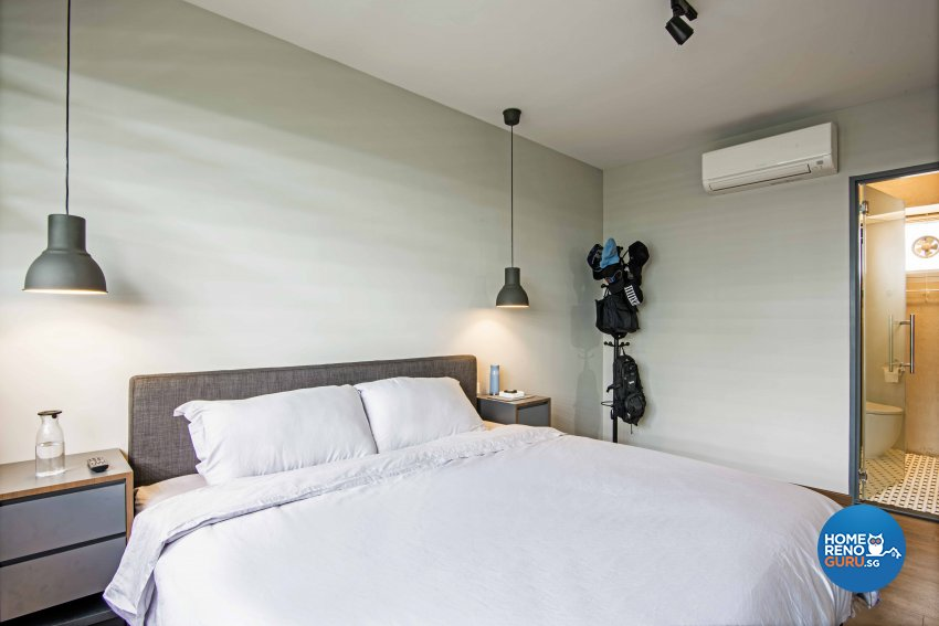 Industrial Design - Bedroom - HDB 4 Room - Design by DB Studio Pte Ltd
