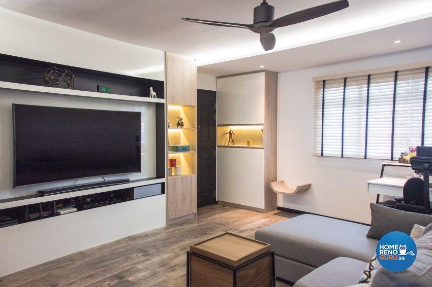Contemporary, Scandinavian Design - Living Room - HDB 4 Room - Design by DB Studio Pte Ltd