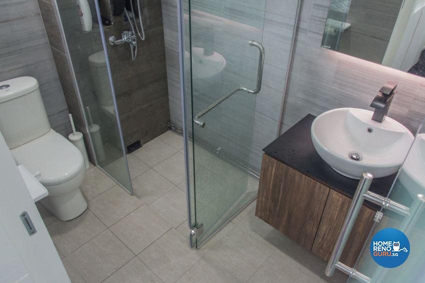 Contemporary, Scandinavian Design - Bathroom - HDB 4 Room - Design by DB Studio Pte Ltd