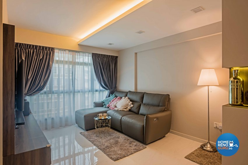 Modern Design - Living Room - HDB 4 Room - Design by DB Studio Pte Ltd