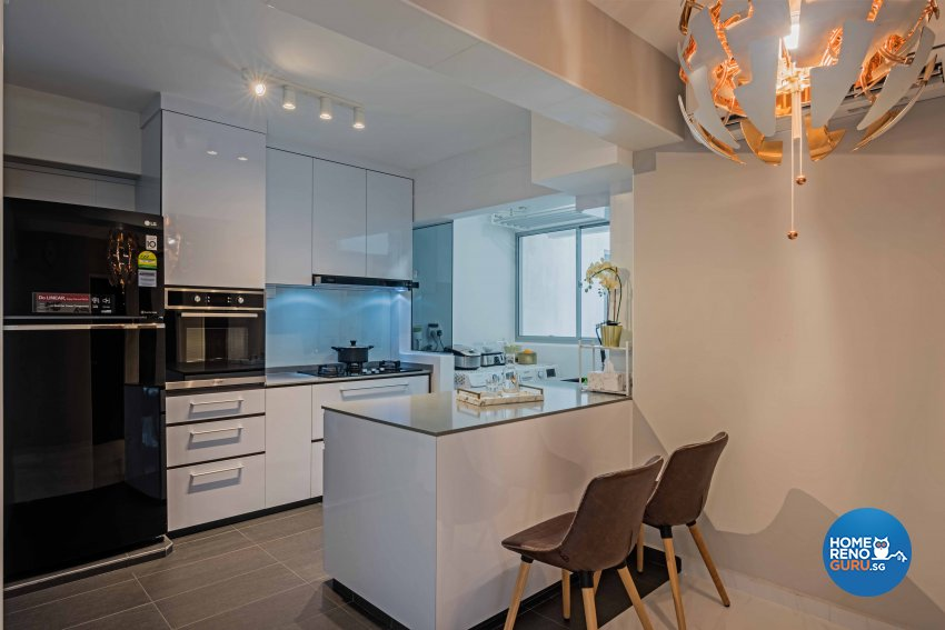 Modern Design - Kitchen - HDB 4 Room - Design by DB Studio Pte Ltd