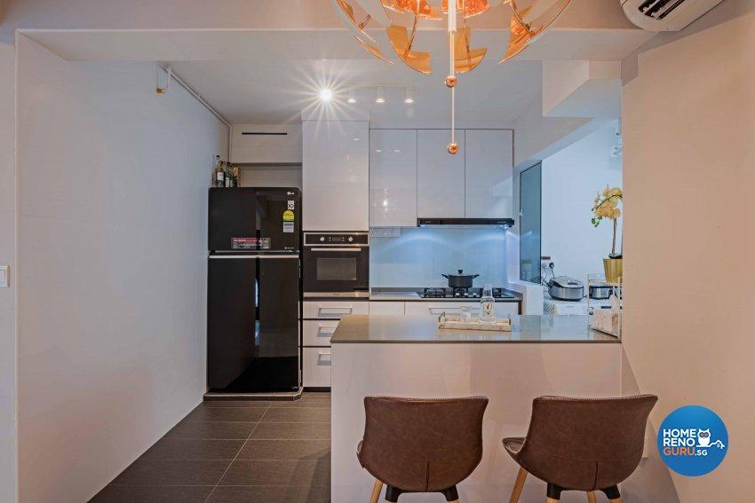 Modern Design - Kitchen - HDB 4 Room - Design by DB Studio Pte Ltd