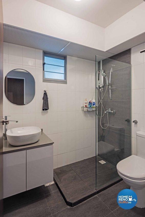 Modern Design - Bathroom - HDB 4 Room - Design by DB Studio Pte Ltd