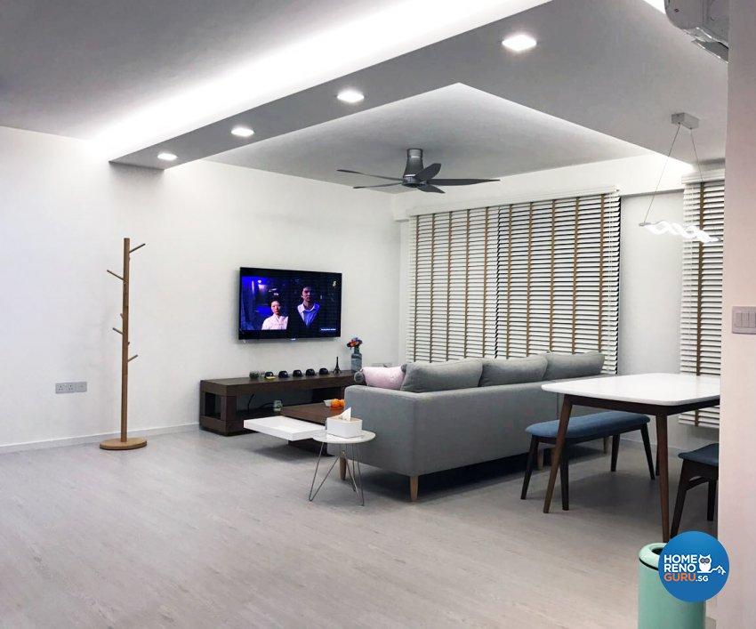 Scandinavian Design - Living Room - HDB 5 Room - Design by DB Studio Pte Ltd