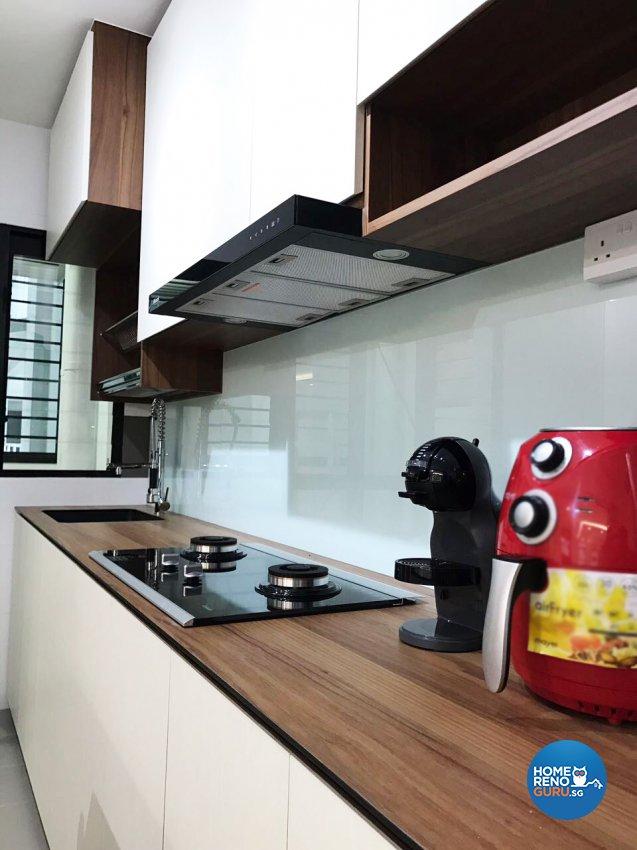 Scandinavian Design - Kitchen - HDB 5 Room - Design by DB Studio Pte Ltd