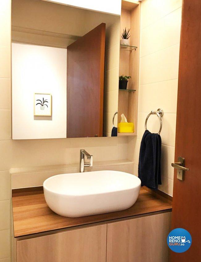 Scandinavian Design - Bathroom - HDB 5 Room - Design by DB Studio Pte Ltd