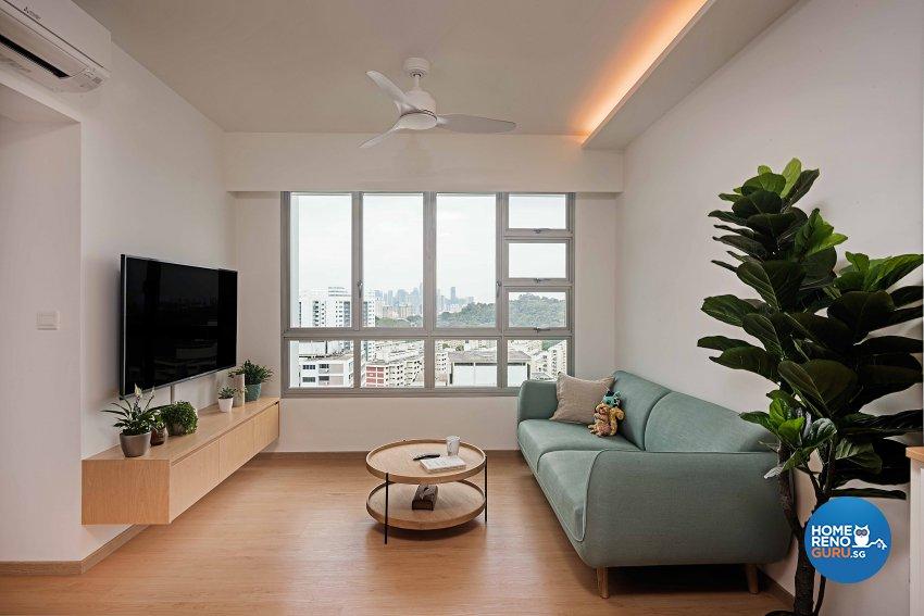 Scandinavian Design - Living Room - HDB 4 Room - Design by DB Studio Pte Ltd