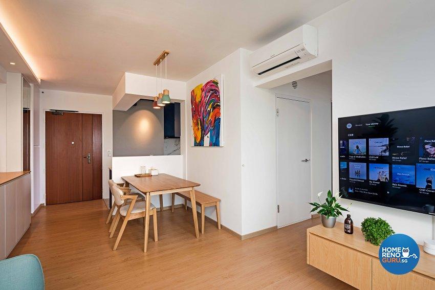 Scandinavian Design - Dining Room - HDB 4 Room - Design by DB Studio Pte Ltd