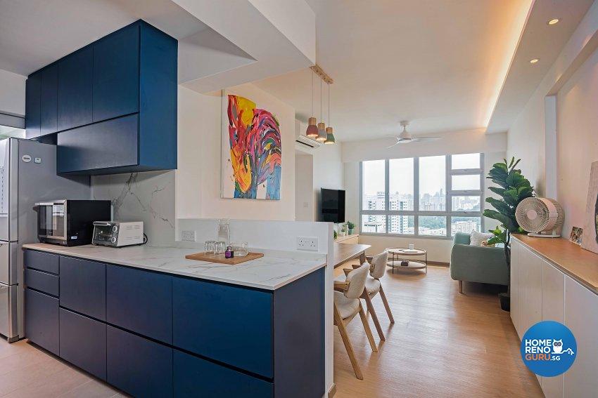 Scandinavian Design - Kitchen - HDB 4 Room - Design by DB Studio Pte Ltd