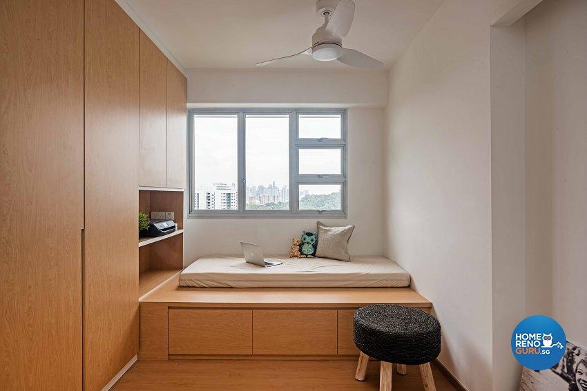 Scandinavian Design - Study Room - HDB 4 Room - Design by DB Studio Pte Ltd