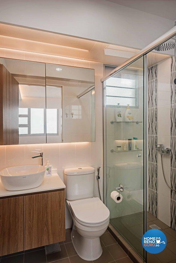 Scandinavian Design - Bathroom - HDB 4 Room - Design by DB Studio Pte Ltd