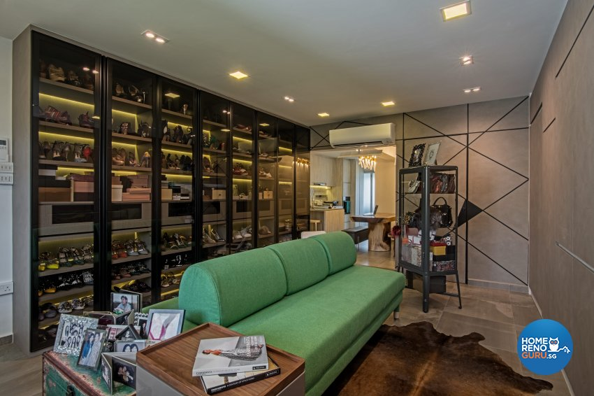Eclectic Design - Living Room - HDB 4 Room - Design by DB Studio Pte Ltd
