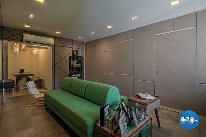 Eclectic Design - Living Room - HDB 4 Room - Design by DB Studio Pte Ltd