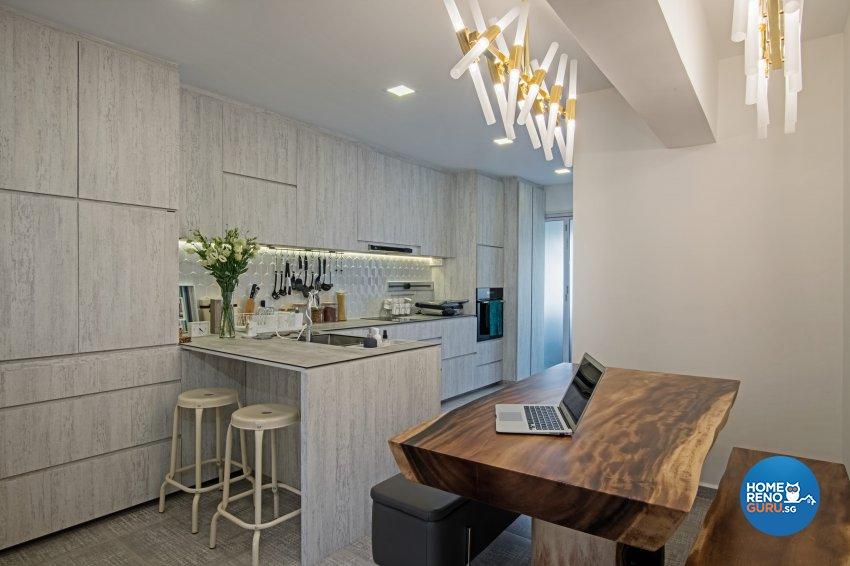 Eclectic Design - Dining Room - HDB 4 Room - Design by DB Studio Pte Ltd