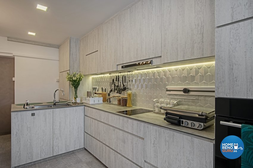 Eclectic Design - Kitchen - HDB 4 Room - Design by DB Studio Pte Ltd