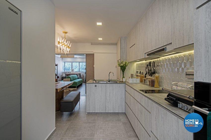 Eclectic Design - Kitchen - HDB 4 Room - Design by DB Studio Pte Ltd
