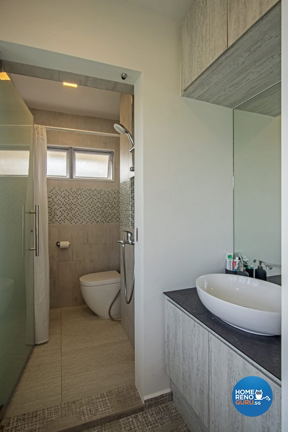 Eclectic Design - Bathroom - HDB 4 Room - Design by DB Studio Pte Ltd