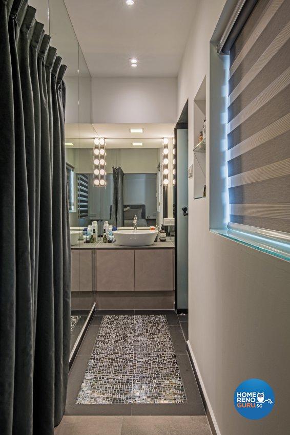 Eclectic Design - Bathroom - HDB 4 Room - Design by DB Studio Pte Ltd