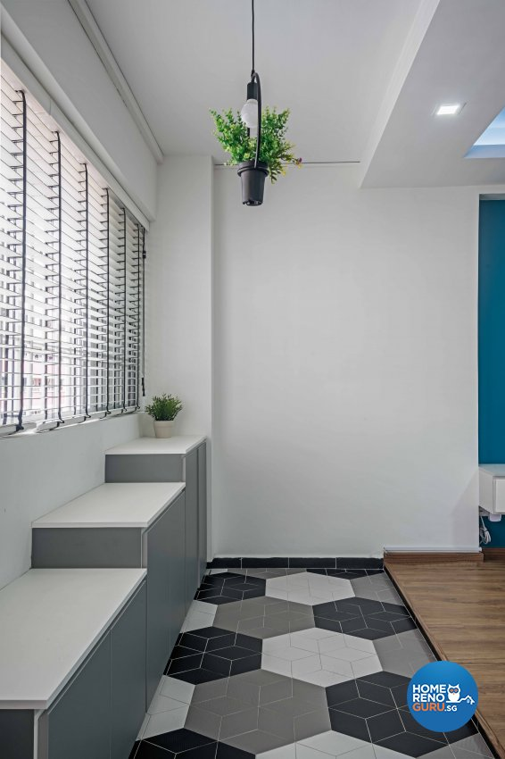 Country, Modern Design - Balcony - HDB 5 Room - Design by DB Studio Pte Ltd
