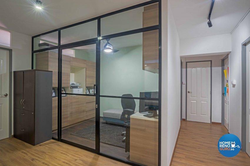 Country, Modern Design - Study Room - HDB 5 Room - Design by DB Studio Pte Ltd