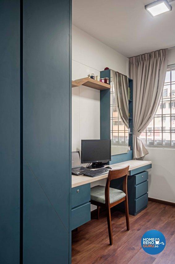 Country, Modern Design - Bedroom - HDB 5 Room - Design by DB Studio Pte Ltd