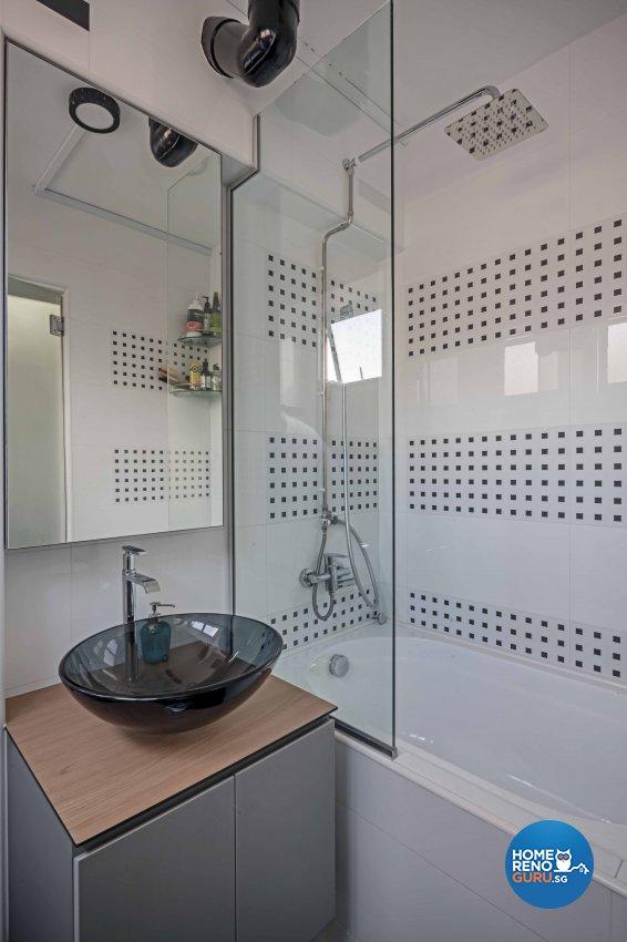 Country, Modern Design - Bathroom - HDB 5 Room - Design by DB Studio Pte Ltd