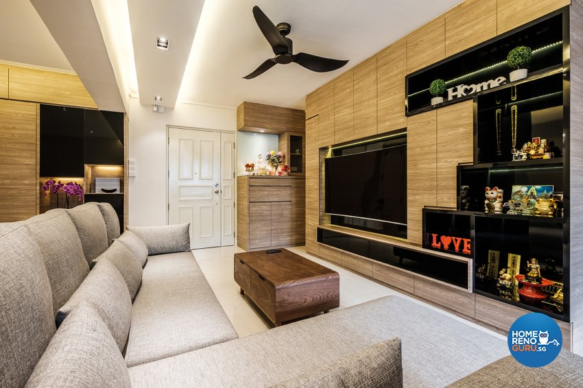 Contemporary, Modern Design - Living Room - HDB 5 Room - Design by DB Studio Pte Ltd
