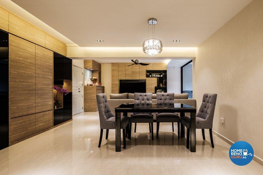 Contemporary, Modern Design - Dining Room - HDB 5 Room - Design by DB Studio Pte Ltd